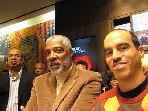 Johnson, Erving, Garcia at House of Hoops
