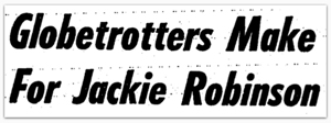 Jackie Robinson basketball headline