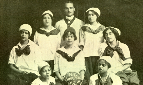 The all-black New York Girls championship basketball team