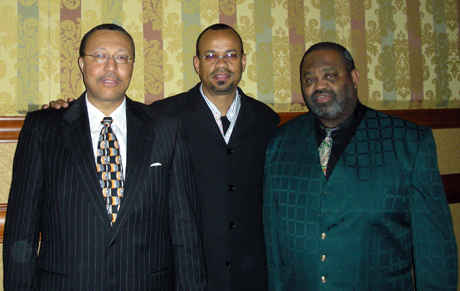Claude Johnson with P.B.B.A. organizers