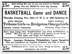 Philadelphia Tribune Girls advertisement