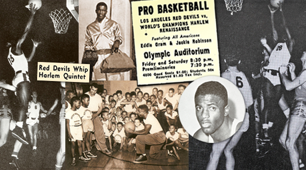 Jackie Robinson Feature Basketball Collage Slide