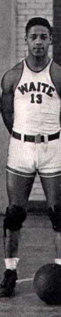 Al Price in Waite High School basketball team uniform