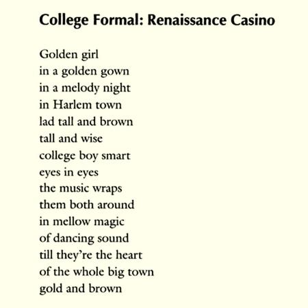 College Formal: Renaissance Casino by Langston Hughes